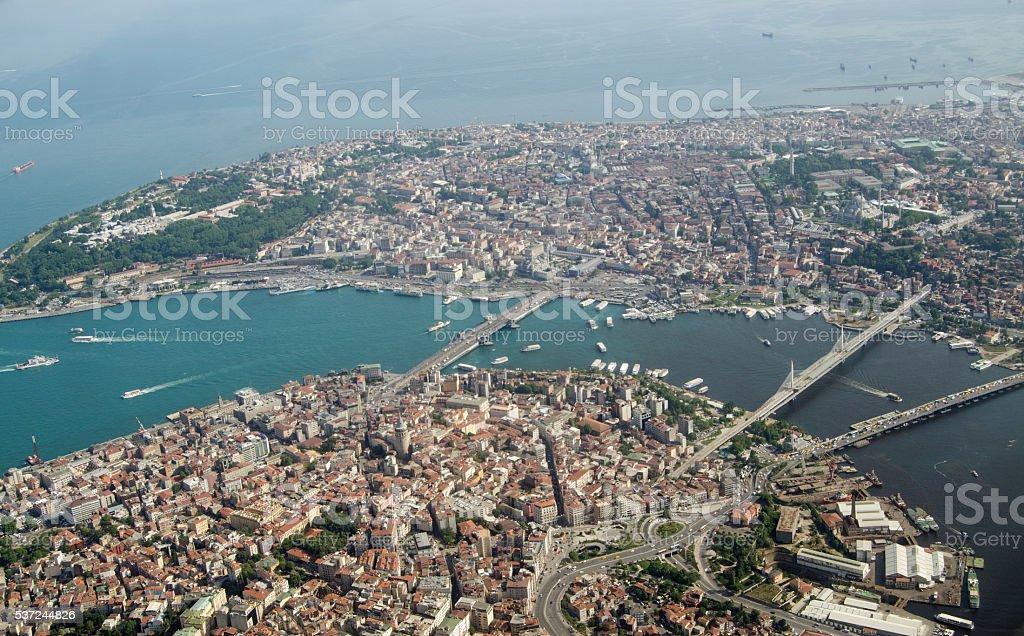Vue Aérienne Corne D39or Istanbul En Turquie Stock Photo Libre de ...