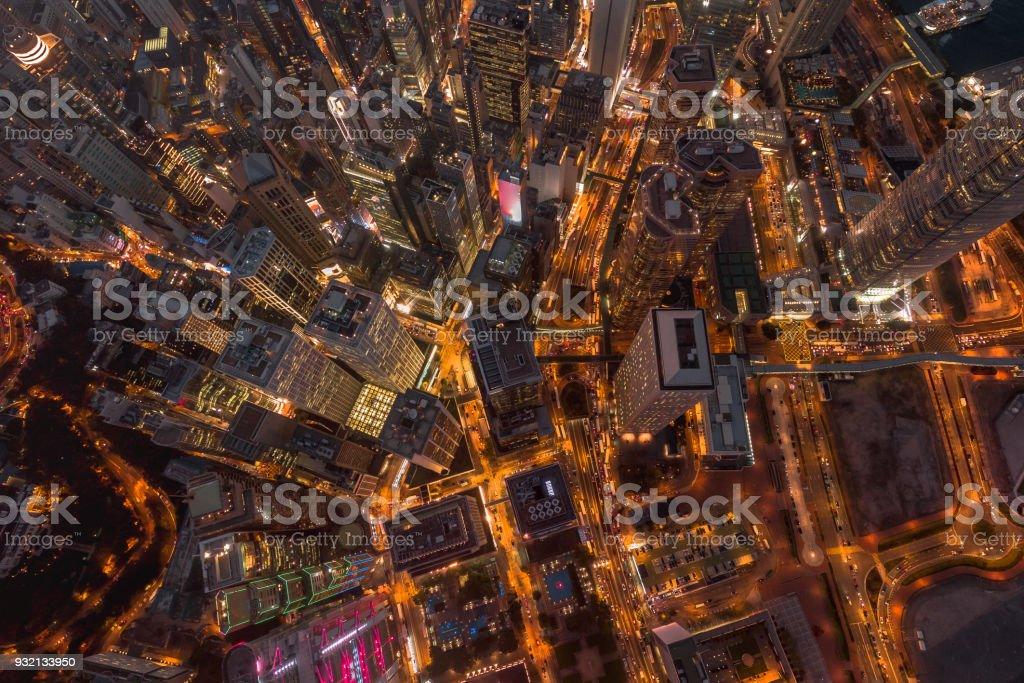 Luftbild Hong Kong Night – Foto