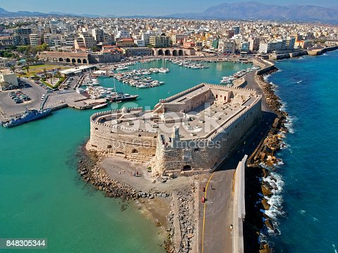 Iraklion is the biggest city on the Crete island, Greece