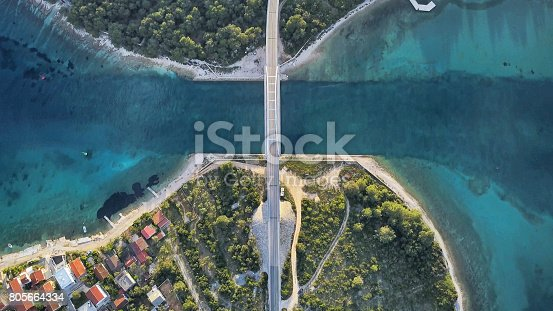 istock Aerial view in Croatia. 805664334