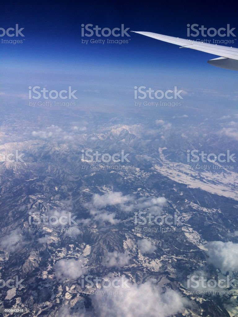 Aerial view Japan stock photo