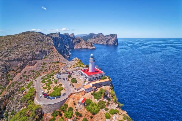 Phare de vue aérienne - Cap de Formentor (Seaside) et des célèbres falaises des îles Baléares Majorque / Espagne - Photo