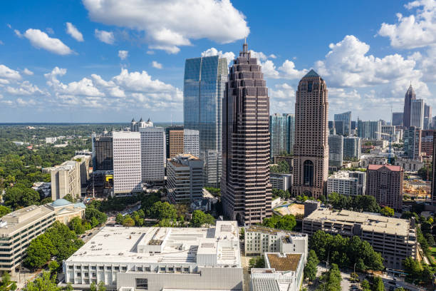 Aerial view Midtown Atlanta stock photo