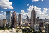 Atlanta, Georgia/ United State 08/20/2019 - Aerial view Midtown Atlanta