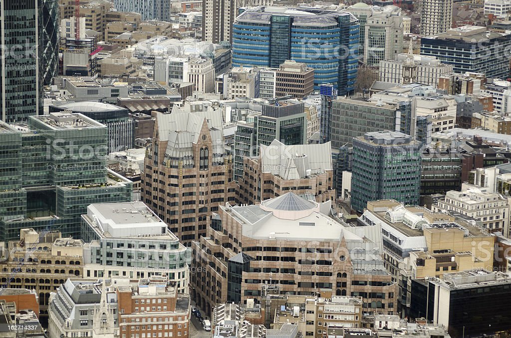 Aerial View, Minster Court, City of London royalty-free stock photo