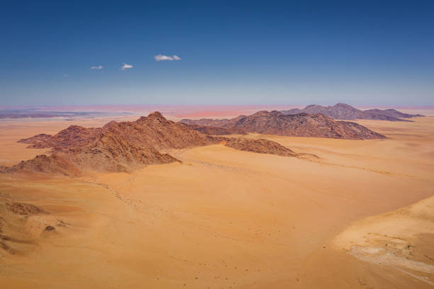 Aerial View Nambia Sea of Sand Dunes Sossusvlei stock photo