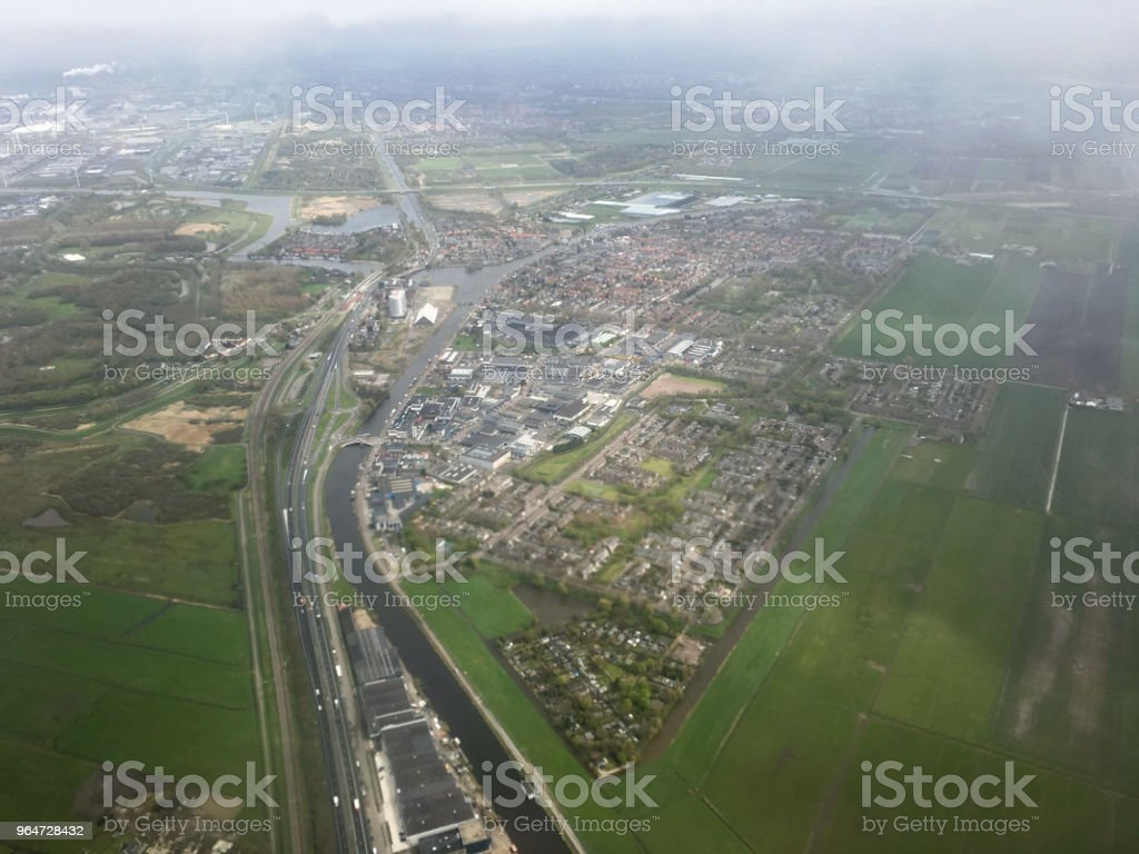Aerial view Netherlands Holland landscape royalty-free stock photo