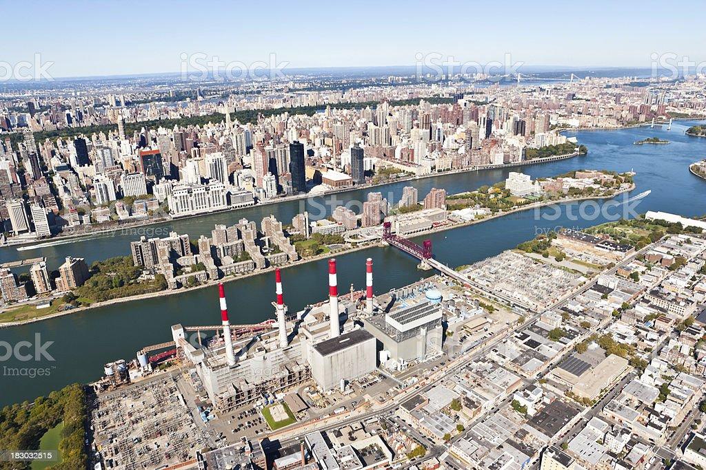 aerial view new york city stock photo