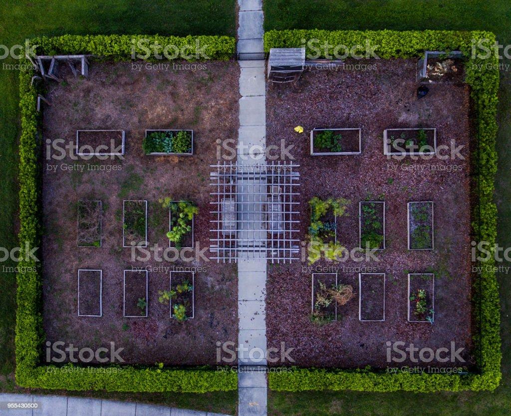 Aerial view nursery garden - Zbiór zdjęć royalty-free (Architektura)