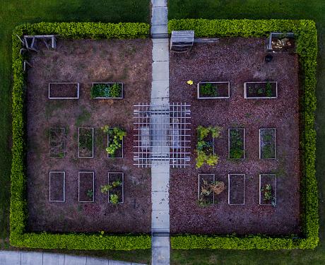 Aerial View Nursery Garden - zdjęcia stockowe i więcej obrazów Architektura
