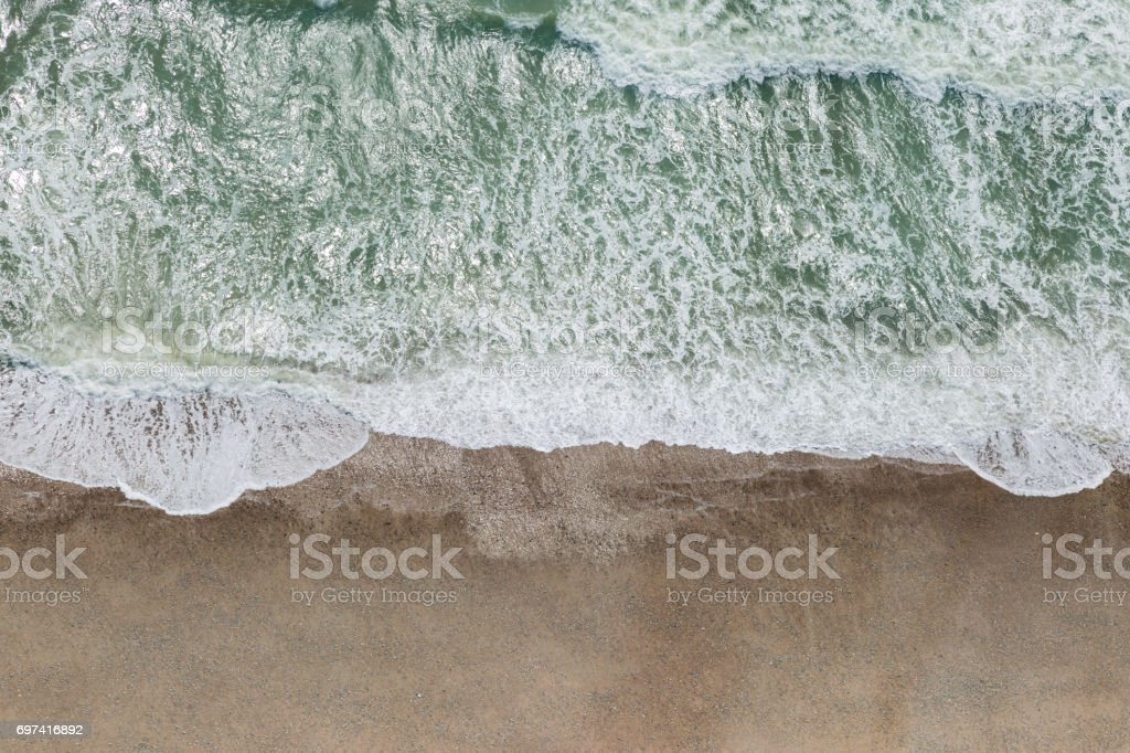 Aerial View of a Beach stock photo