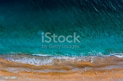999001484 istock photo Aerial view of a beautiful beach 1135720551