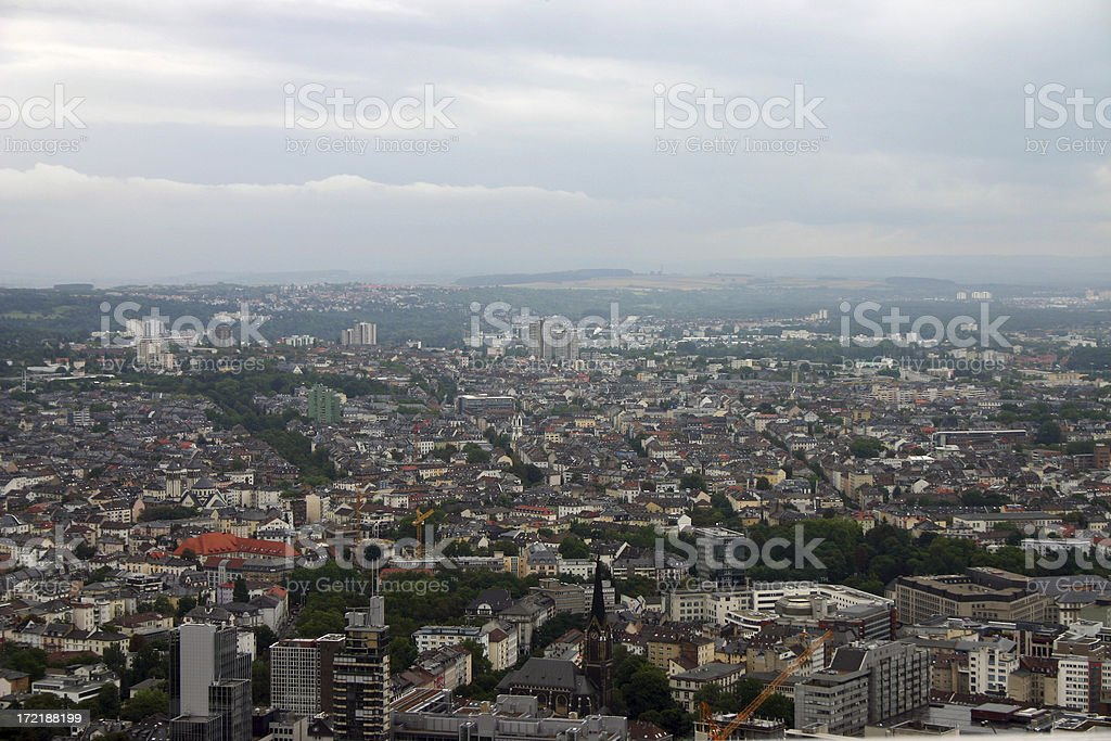 Aerial view of a big city royalty-free stock photo