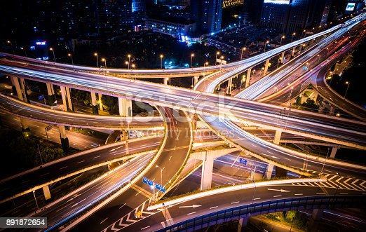 599471112 istock photo Aerial View of a Busy Road Intersection 891872654