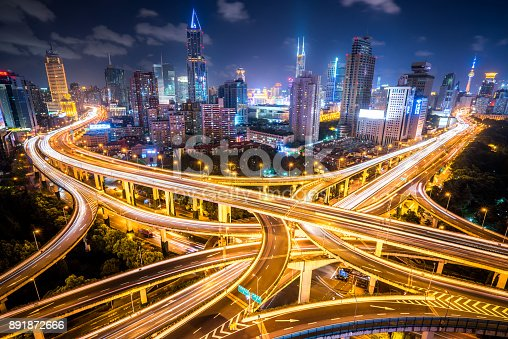 599471112istockphoto Aerial View of a Busy Road Intersection 891872666