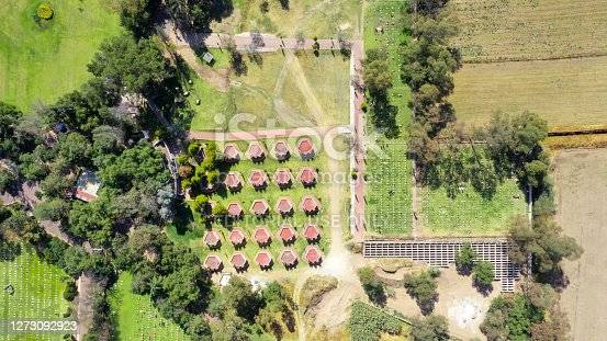 istock Aerial view of a cemetery in the State of Mexico 1273092923