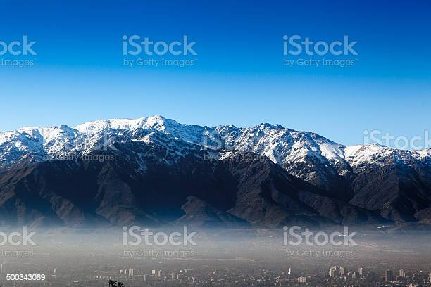 Photo of Aerial view of a city Andes, Santiago, Chile