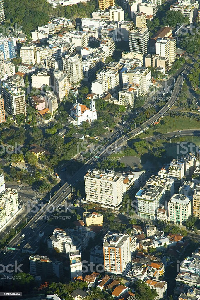 Aerial view of a city royalty-free stock photo