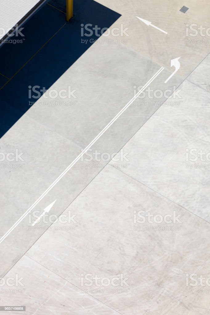 Aerial View Of A City Road - Royalty-free Abstract Stock Photo