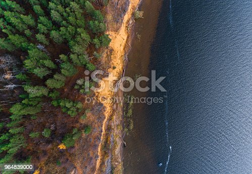 Aerial View Of A Coast Of The River Stock Photo & More Pictures of Aerial View
