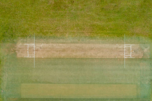 Aerial view of a cricket ground. Aerial view of a cricket ground. sport of cricket stock pictures, royalty-free photos & images