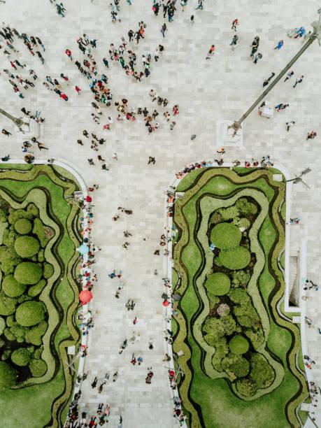 Luftaufnahme von einer Kreuzung in Mexiko-Stadt – Foto