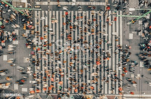 Aerial View of a Crossing in Mexico City