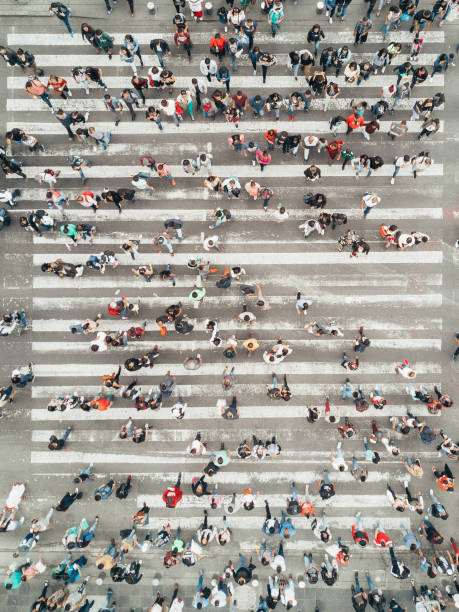 Luftaufnahme einer Kreuzung in Mexiko-Stadt – Foto