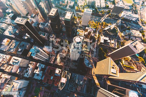 istock Aerial view of a Downtown LA 875255190