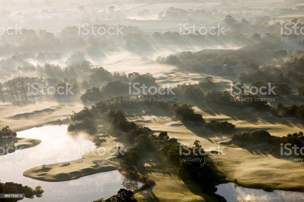 Aerial View Of A Golf Course - Royalty-free Amanhecer Foto de stock