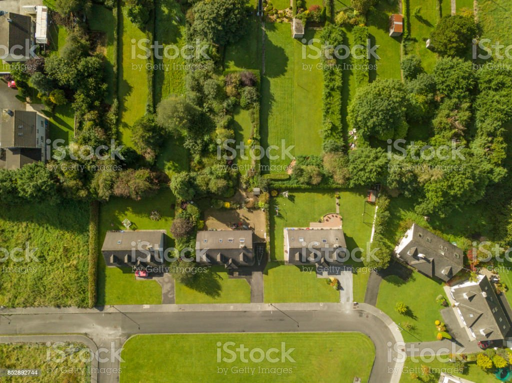 Aerial view of a Housing Estate stock photo