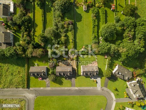 Aerial View Of A Housing Estate Stock Photo & More Pictures of Aerial View