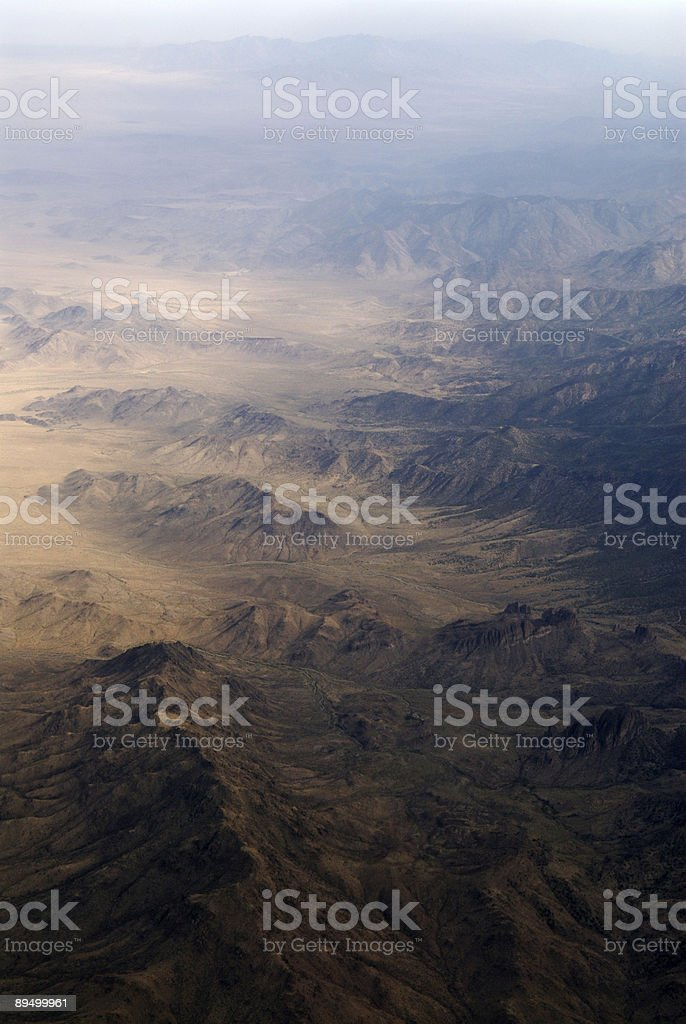 Aerial view of a mountainous landscape royalty free stockfoto