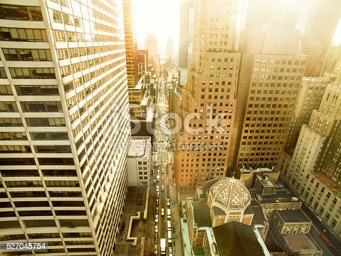 507831914 istock photo Aerial view of a New York City street 527045754