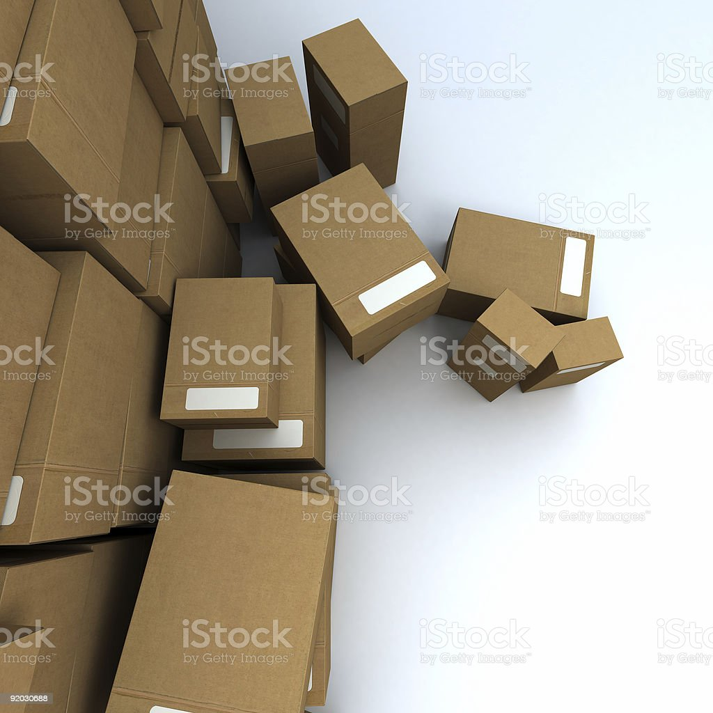 aerial view of a packages heap 2 royalty-free stock photo