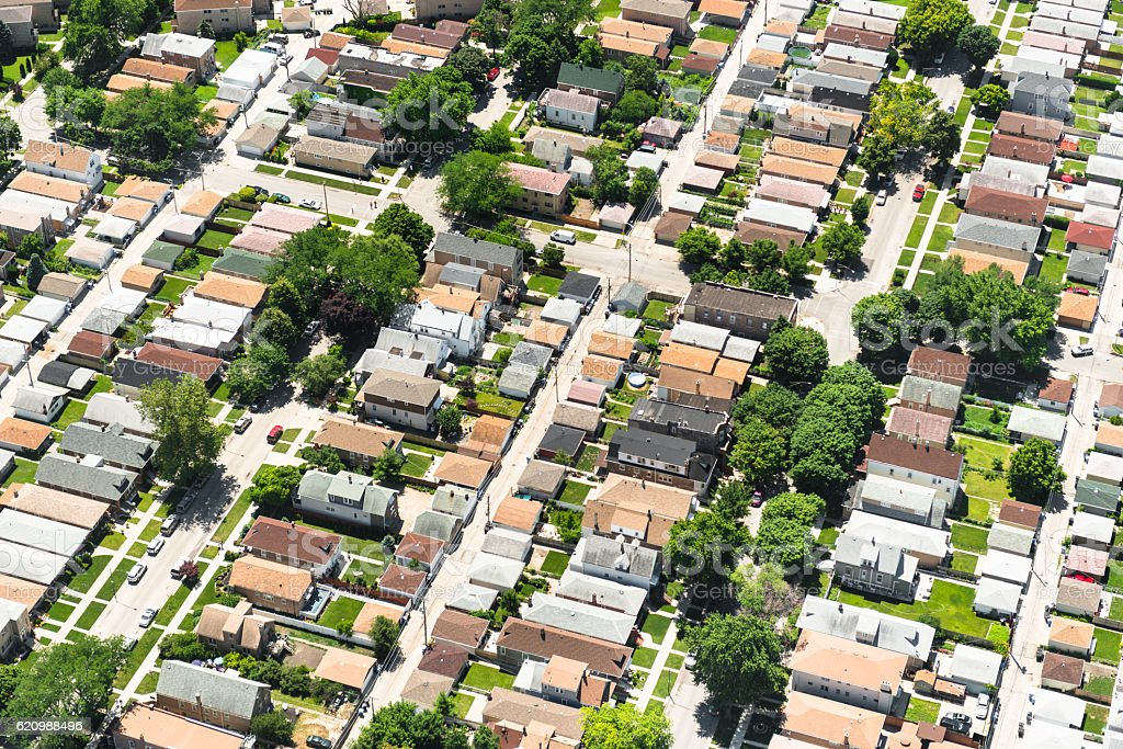 aerial view of a residential district foto royalty-free
