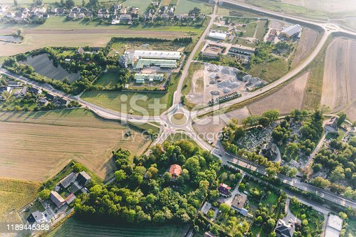 618059920 istock photo Aerial view of a road junction 1189445358