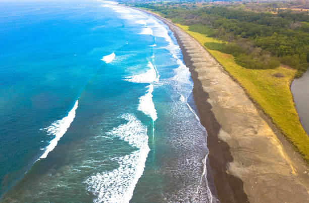 Aerial view of a section of the golf of Nicoya, Costa Rica. Aerial view of a section of the golf of Nicoya, Costa Rica. nicoya peninsula stock pictures, royalty-free photos & images