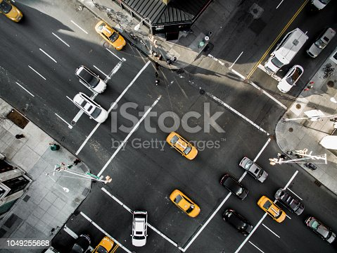 Aerial view of a street in Chelsea