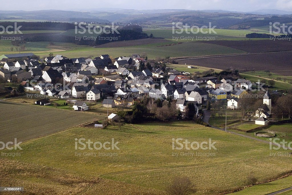 Aerial view of a Suburban area royalty-free stock photo