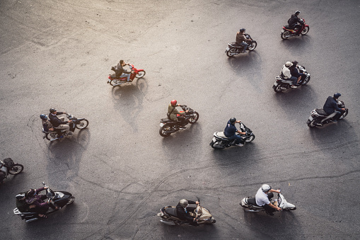 istock Aerial View of a traffic in Hanoi, Vietnam 1091250750