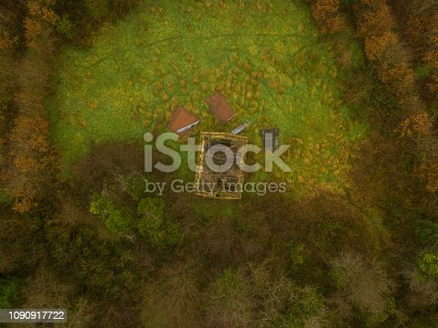 istock Aerial view of a woodland in winter, Roscommon, Ireland. 1090917722