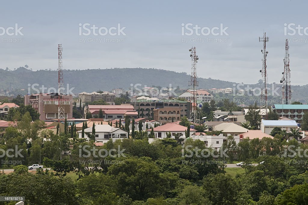 Aerial view of Abuja, Nigeria stock photo