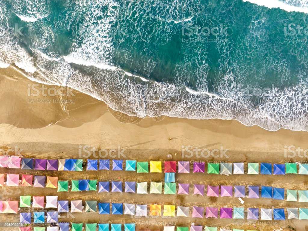 Aerial view of Acapulco in Mexico stock photo