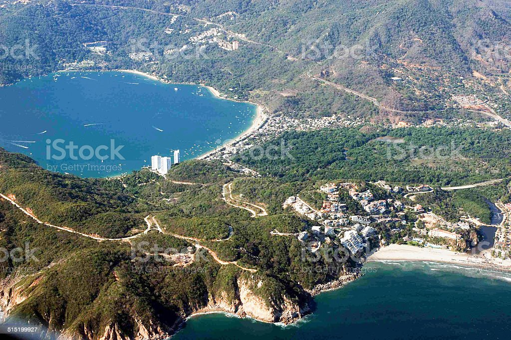 Aerial view of Acapulco, Mexico An aerial view of Acapulco, Mexico.  rr Acapulco Stock Photo