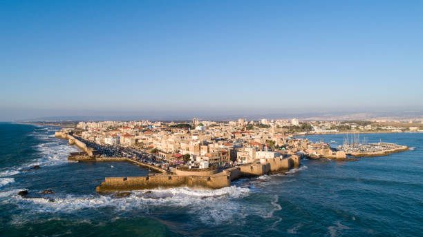Aerial View of Acre Old City 1 stock photo
