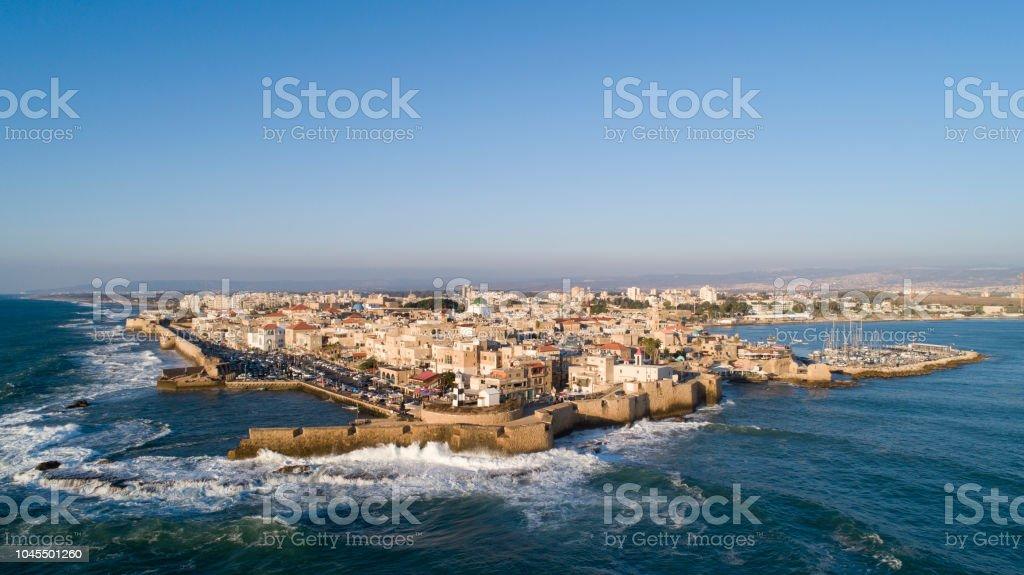 Vista aérea da cidade velha de Acre 2 - foto de acervo