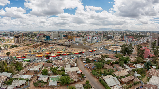 Aerial View Of Addis Ababa Stock Photo - Download Image Now