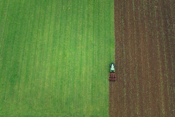 Luftaufnahme der landwirtschaftlichen Fläche – Foto
