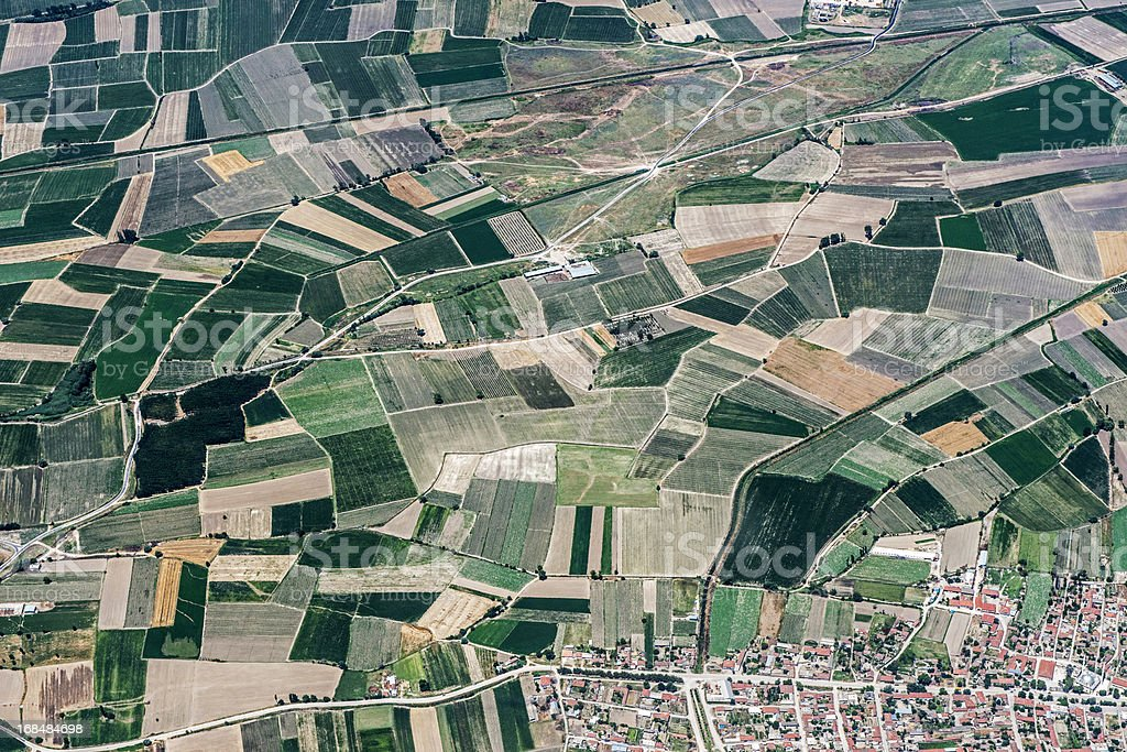 Aerial View of Agriculture Field royalty-free stock photo